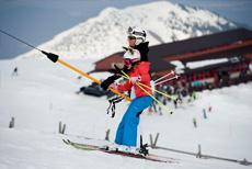 narty z dziećmi wyciag